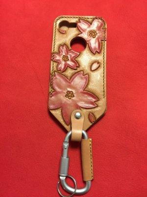 画像1: iphone7 革ケース 桜